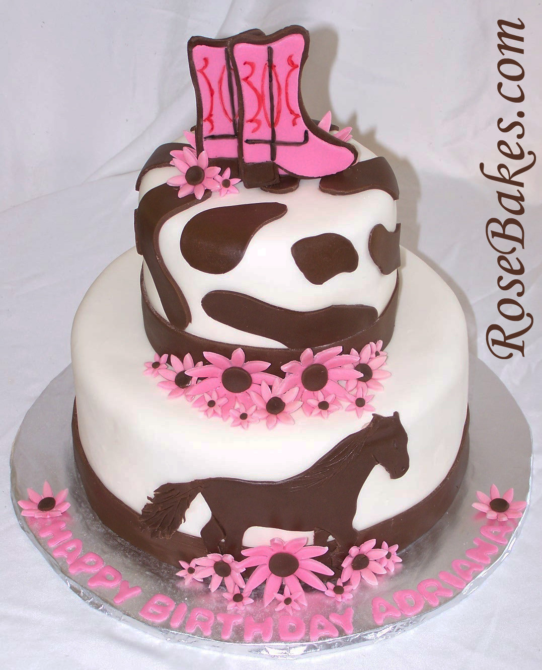Best ideas about Western Birthday Cake . Save or Pin Pink Horse Cowgirl Cake Rose Bakes Now.