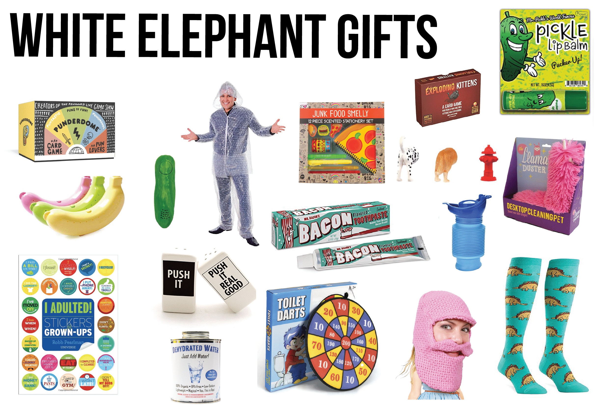 Best ideas about What Is A White Elephant Gift Exchange Ideas . Save or Pin 100 of the Best White Elephant Gifts & Other Gift Ideas Now.