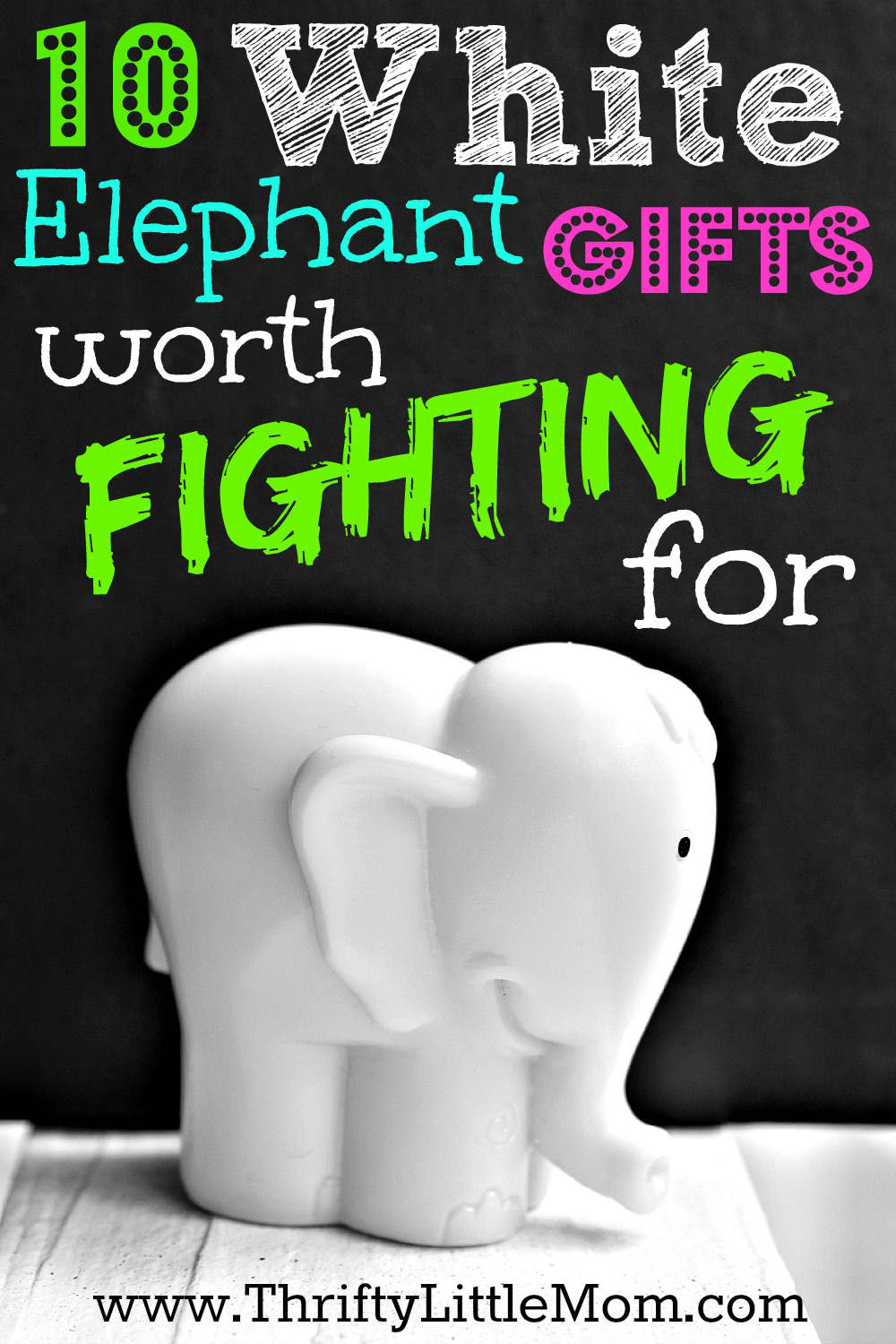 Best ideas about What Is A White Elephant Gift Exchange Ideas . Save or Pin White Elephant Gifts Worth Fighting For Thrifty Little Mom Now.