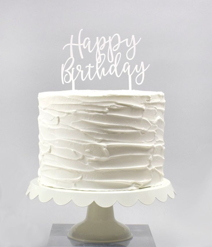 Best ideas about White Birthday Cake . Save or Pin 25 best ideas about Birthday cakes on Pinterest Now.