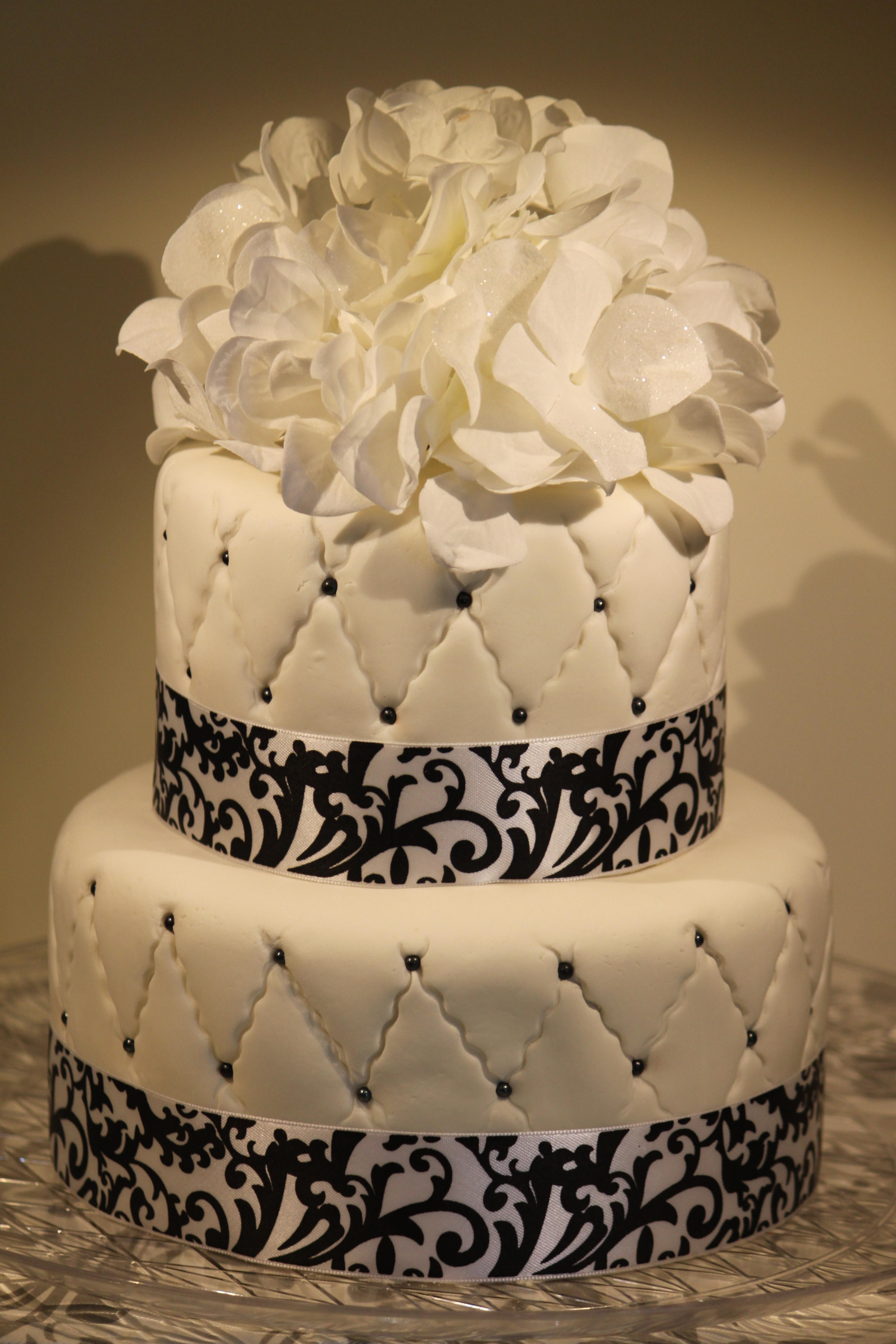 Best ideas about White Birthday Cake . Save or Pin Black and White Quilted Fondant Birthday Cake Now.