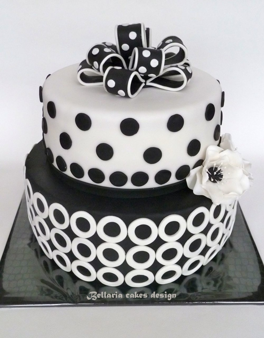 Best ideas about White Birthday Cake . Save or Pin Black And White Birthday Cake CakeCentral Now.