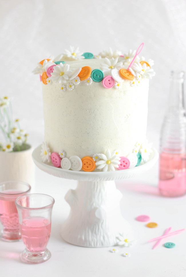 Best ideas about White Birthday Cake . Save or Pin Buttons Birthday Cake Easy White Cake with Vanilla Bean Now.