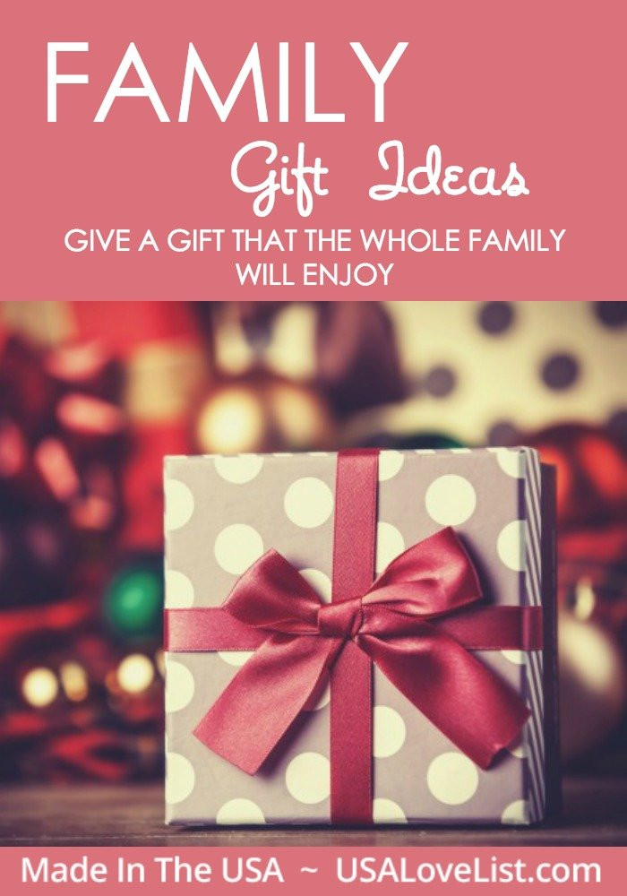 Best ideas about Whole Family Gift Ideas . Save or Pin American made Family Gift Ideas USA Love List Now.
