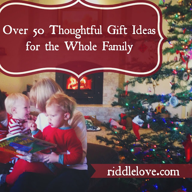 Best ideas about Whole Family Gift Ideas . Save or Pin riddlelove Over 50 Thoughtful Gift Ideas for the Whole Family Now.