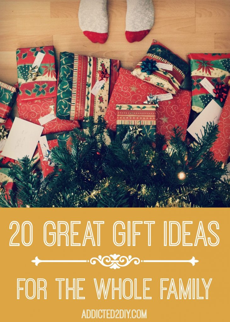 Best ideas about Whole Family Gift Ideas . Save or Pin 20 Great Gift Ideas for the Whole Family Addicted 2 DIY Now.