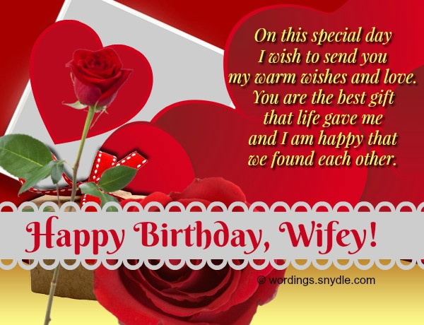 Best ideas about Wife Birthday Wishes . Save or Pin Birthday Wishes And Messages for Wife Wordings and Messages Now.