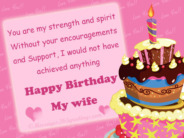 Best ideas about Wife Birthday Wishes . Save or Pin Birthday Wishes for Wife 365greetings Now.