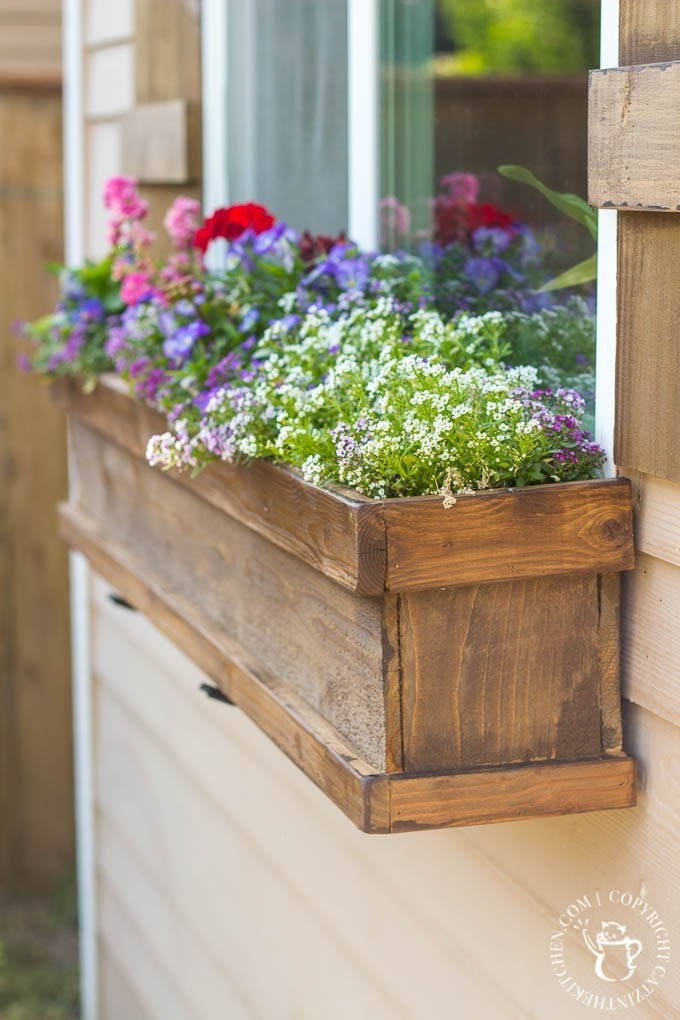 Best ideas about Window Boxes DIY . Save or Pin DIY Window Box and Shutters Catz in the Kitchen Now.