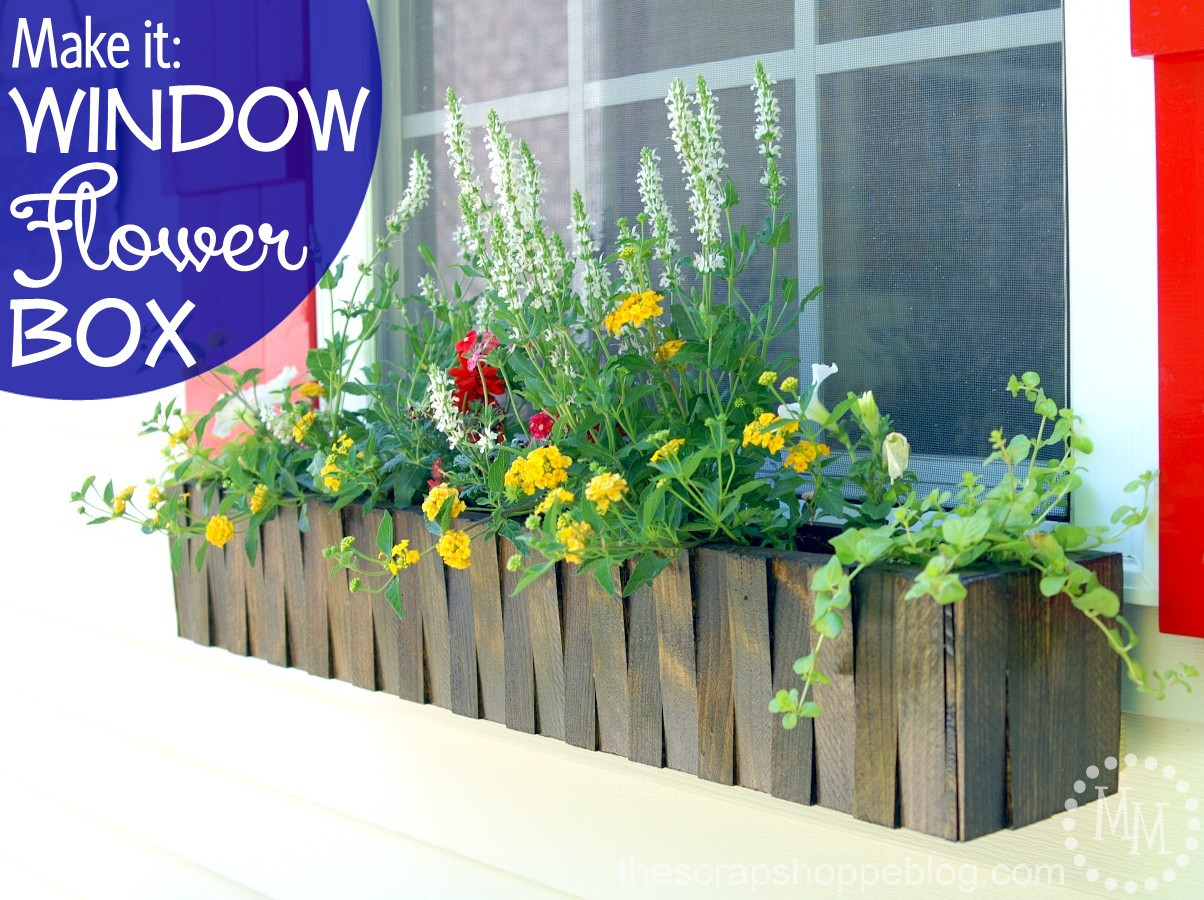 Best ideas about Window Flower Boxes DIY . Save or Pin Make It Window Flower Box The Scrap Shoppe Now.
