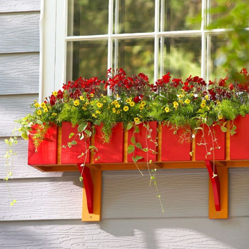 Best ideas about Window Flower Boxes DIY . Save or Pin 15 Cool DIY Window Boxes With Tutorials Shelterness Now.