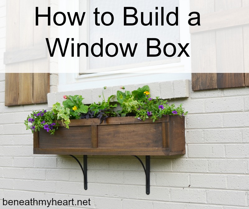 Best ideas about Window Flower Boxes DIY . Save or Pin How to Build a Window Box Beneath My Heart Now.