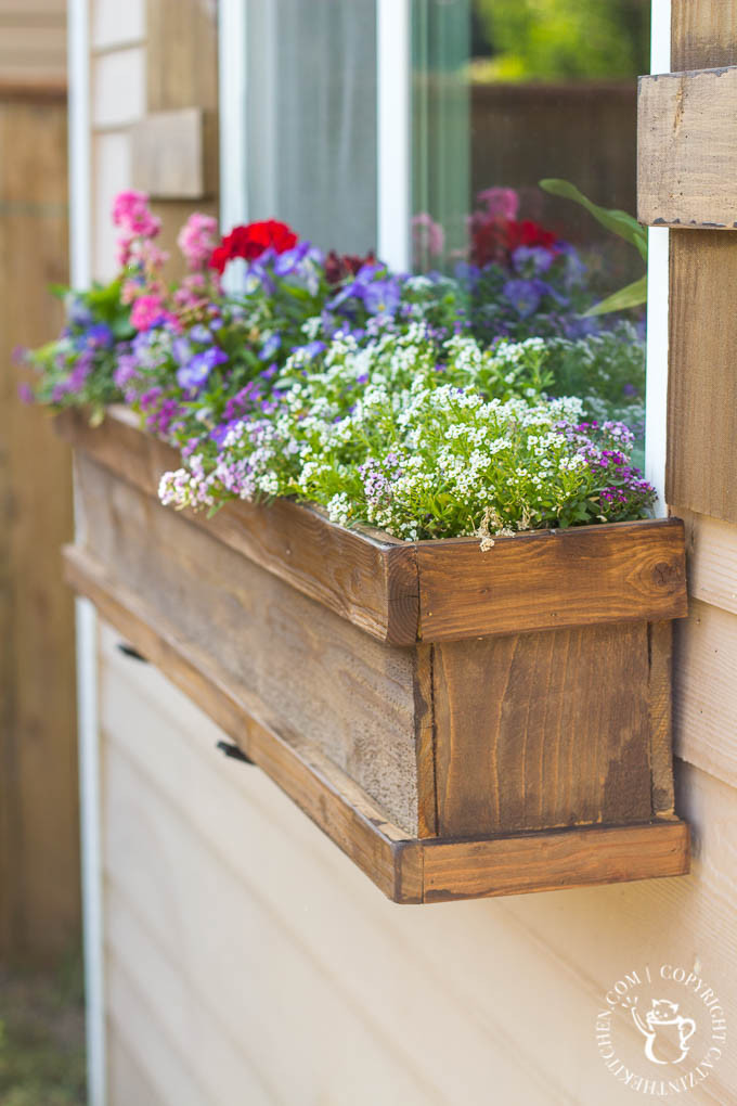 Best ideas about Window Flower Boxes DIY . Save or Pin DIY Window Box and Shutters Catz in the Kitchen Now.