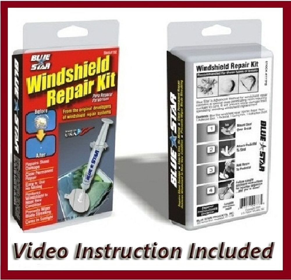 Best ideas about Windshield Crack Repair DIY . Save or Pin WINDSHIELD REPAIR KIT BLUE STAR DO IT YOURSELF A STONE Now.