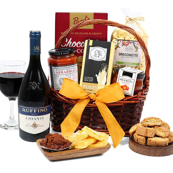 Best ideas about Wine Basket Gift Ideas . Save or Pin Chianti Wine Italian Gift Basket by GourmetGiftBaskets Now.