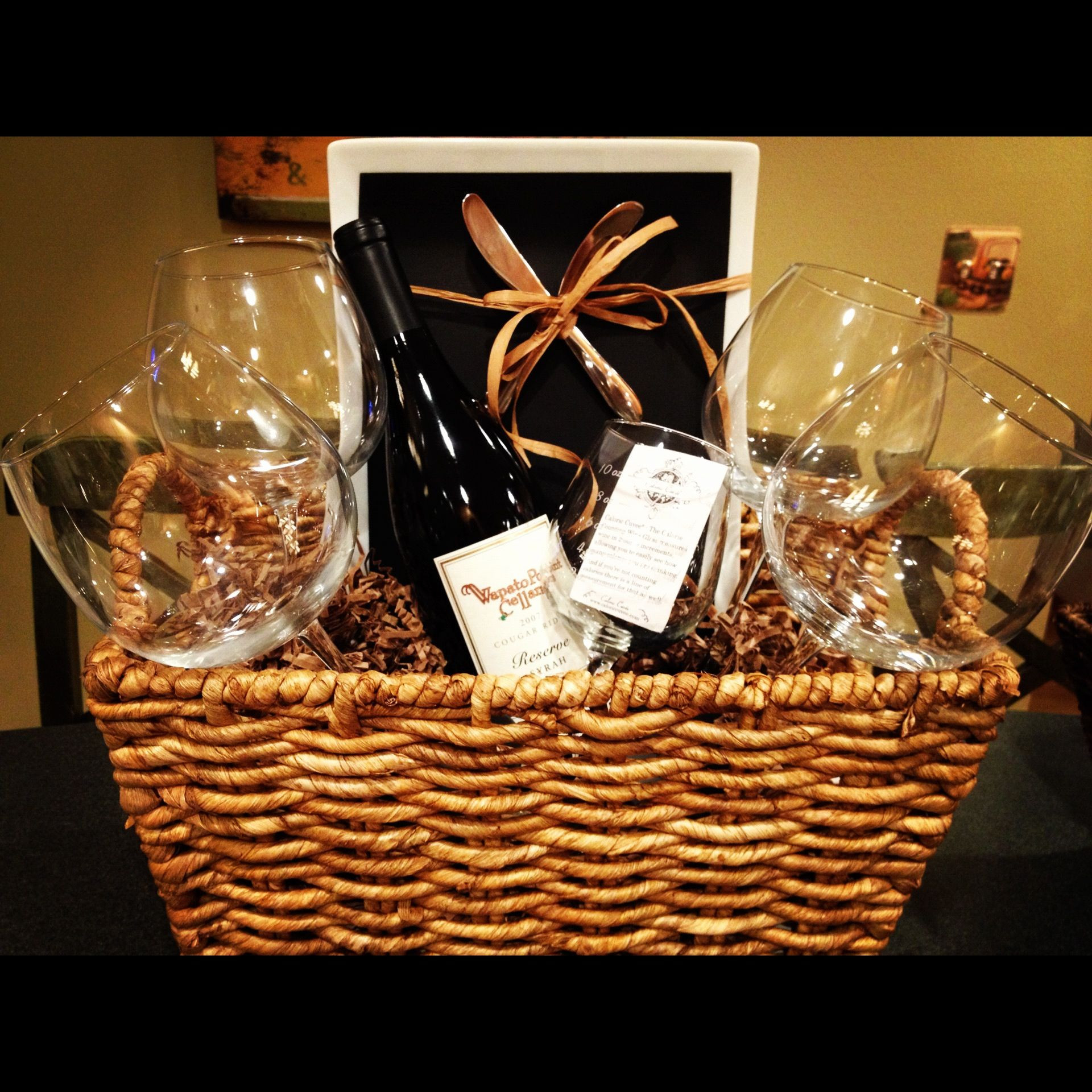 Best ideas about Wine Basket Gift Ideas . Save or Pin DIY wine t basket for shower throwers 1 or 2 bottles Now.