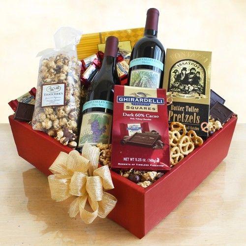 Best ideas about Wine Basket Gift Ideas . Save or Pin 25 best ideas about Wine baskets on Pinterest Now.