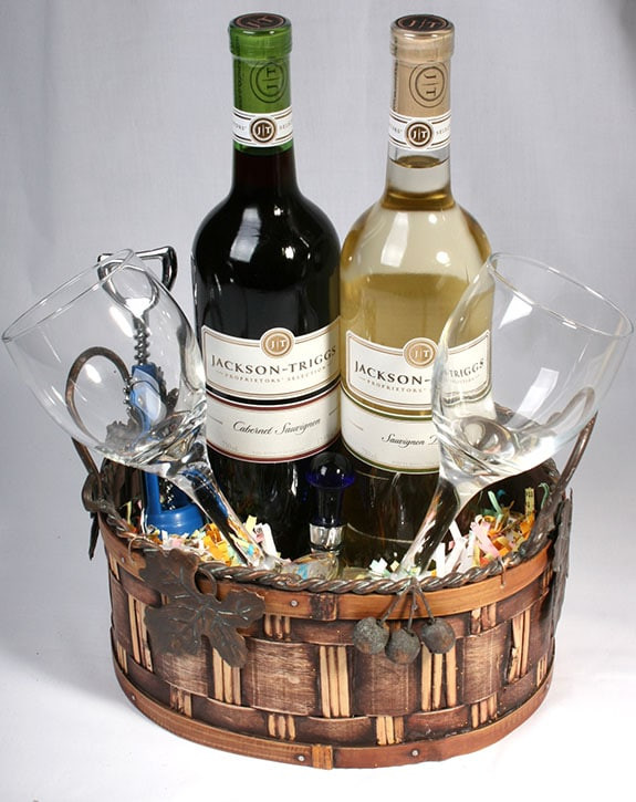Best ideas about Wine Basket Gift Ideas . Save or Pin Eight Fun Wine Basket Ideas For Fundraising Now.
