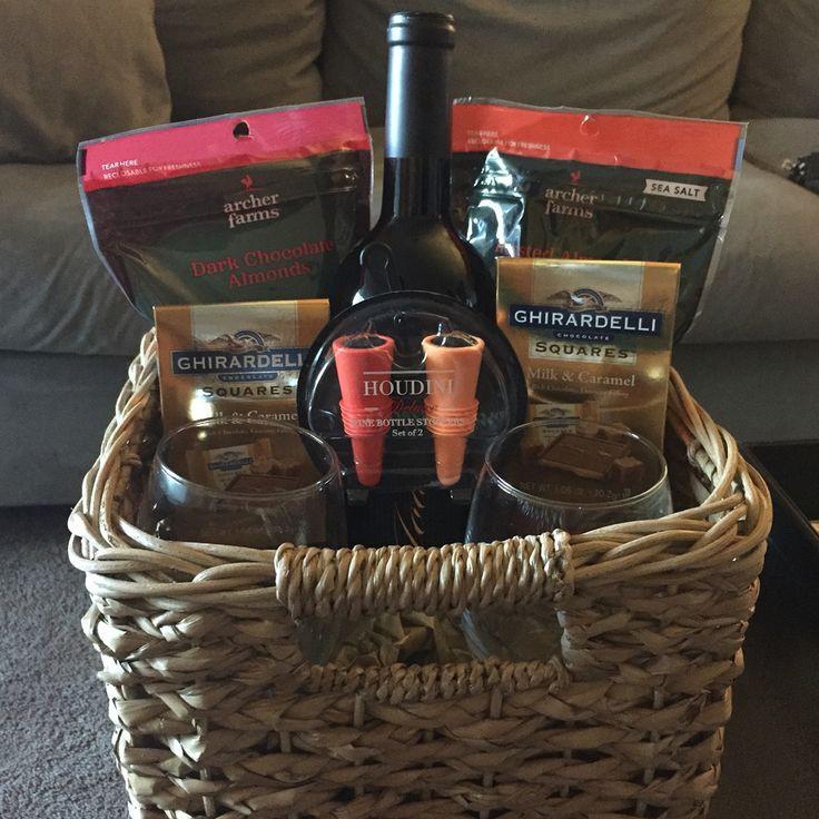 Best ideas about Wine Basket Gift Ideas . Save or Pin Best 25 Wine baskets ideas on Pinterest Now.
