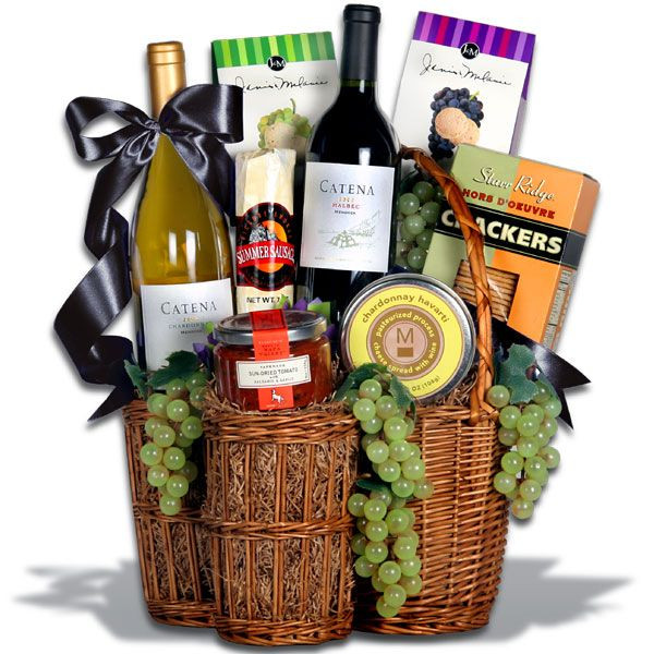 Best ideas about Wine Basket Gift Ideas . Save or Pin 46 best Gift Baskets images on Pinterest Now.