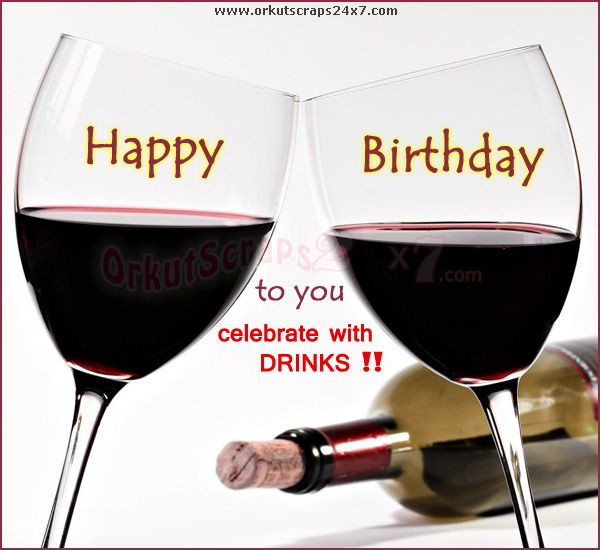 Best ideas about Wine Birthday Wishes . Save or Pin Happy Birthday Greeting With Wine To Post Friends Wall Now.