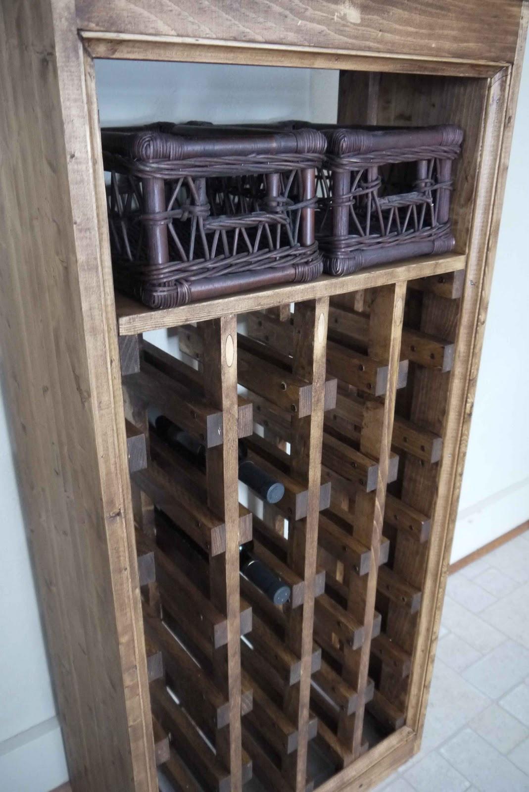 Best ideas about Wine Rack DIY . Save or Pin Rhubarb Diaries DIY Wine Rack pleted Now.
