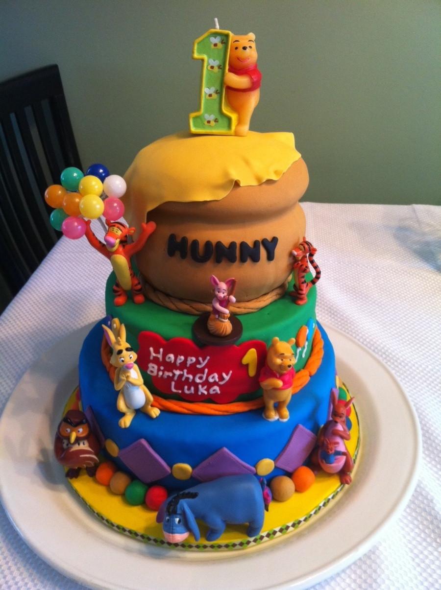 Best ideas about Winnie The Pooh Birthday Cake . Save or Pin Winnie The Pooh First Birthday Cake CakeCentral Now.