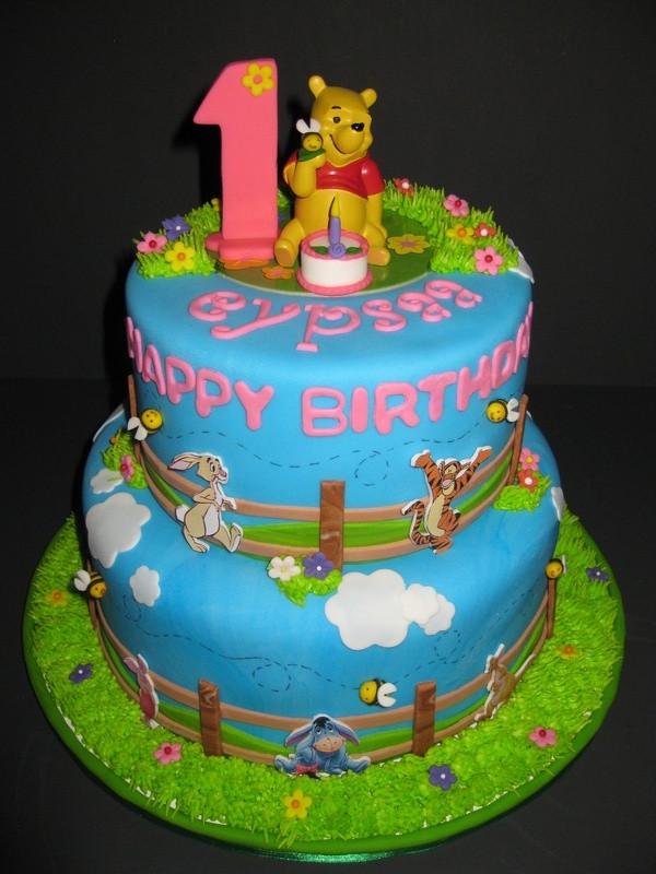 Best ideas about Winnie The Pooh Birthday Cake . Save or Pin Eypsaa s Winnie the Pooh Birthday Cake Now.