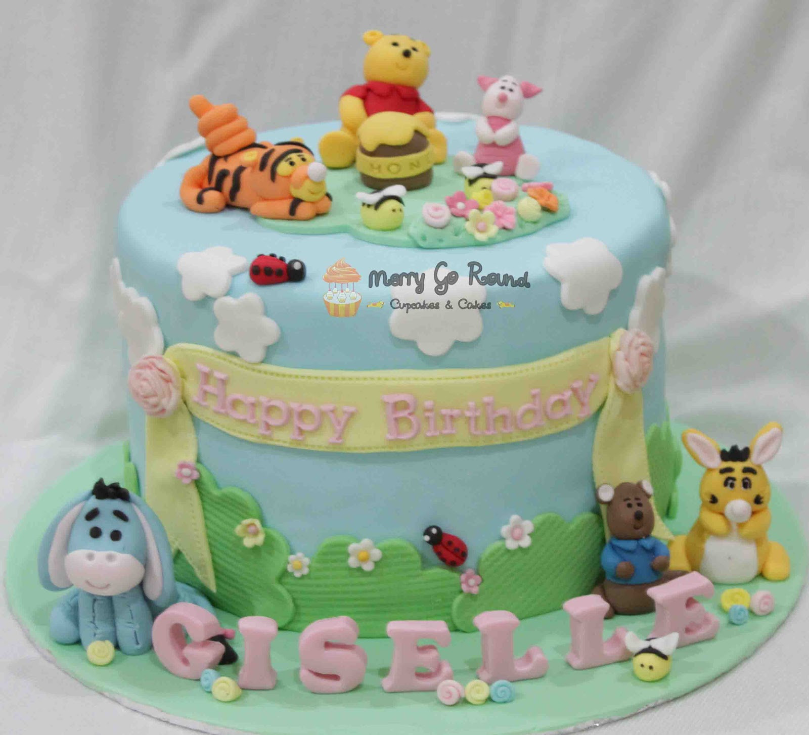 Best ideas about Winnie The Pooh Birthday Cake . Save or Pin Merry Go Round Cupcakes & Cakes Winnie the Pooh Now.