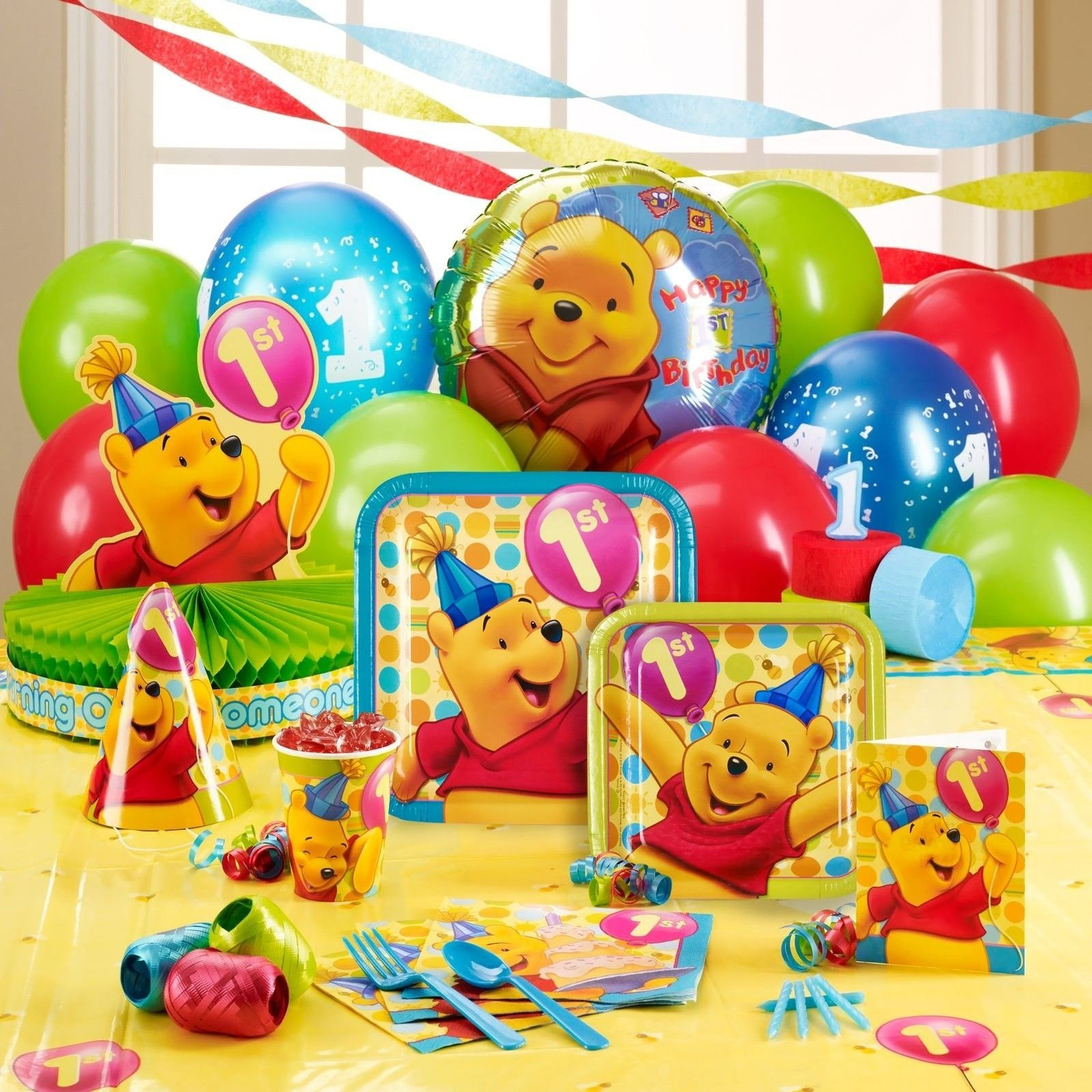 Best ideas about Winnie The Pooh Birthday Decorations . Save or Pin 1st Birthday Winnie The Pooh Theme lulalisa Now.