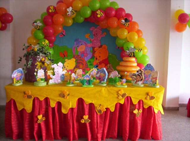 Best ideas about Winnie The Pooh Birthday Decorations . Save or Pin Winnie Pooh party table Party Ideas Now.