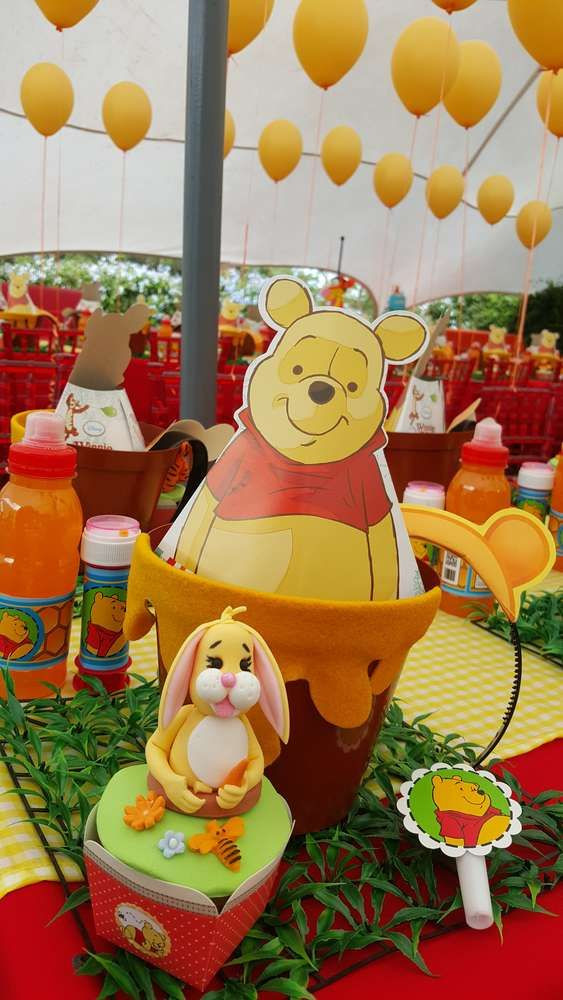 Best ideas about Winnie The Pooh Birthday Decorations . Save or Pin 95 best Winnie the Pooh Party Ideas images on Pinterest Now.