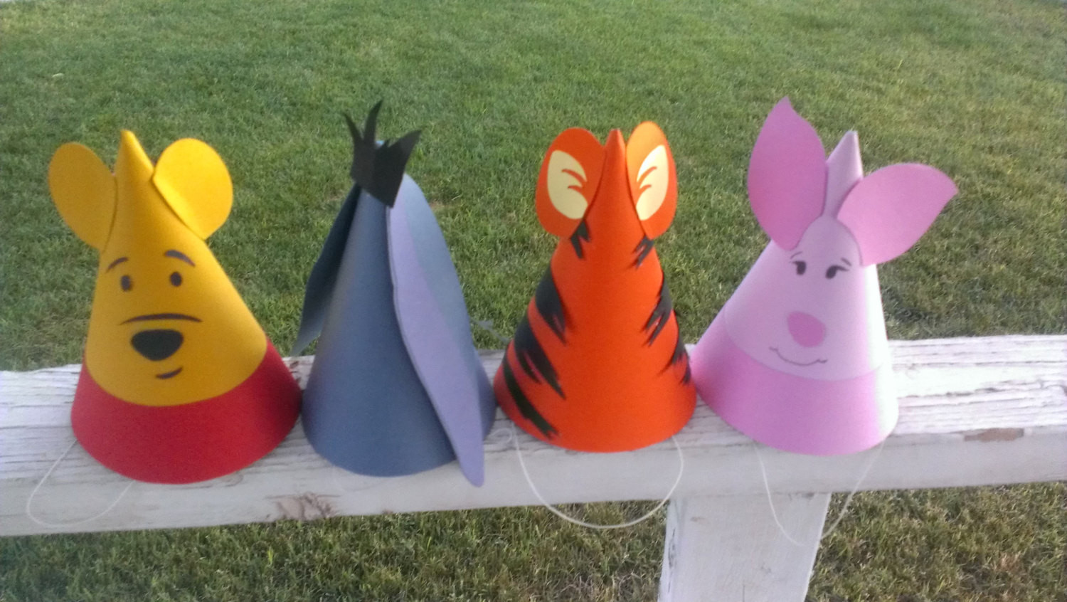Best ideas about Winnie The Pooh Birthday Decorations . Save or Pin 8 Winnie the Pooh Birthday Party Hats Pooh & Frends Now.
