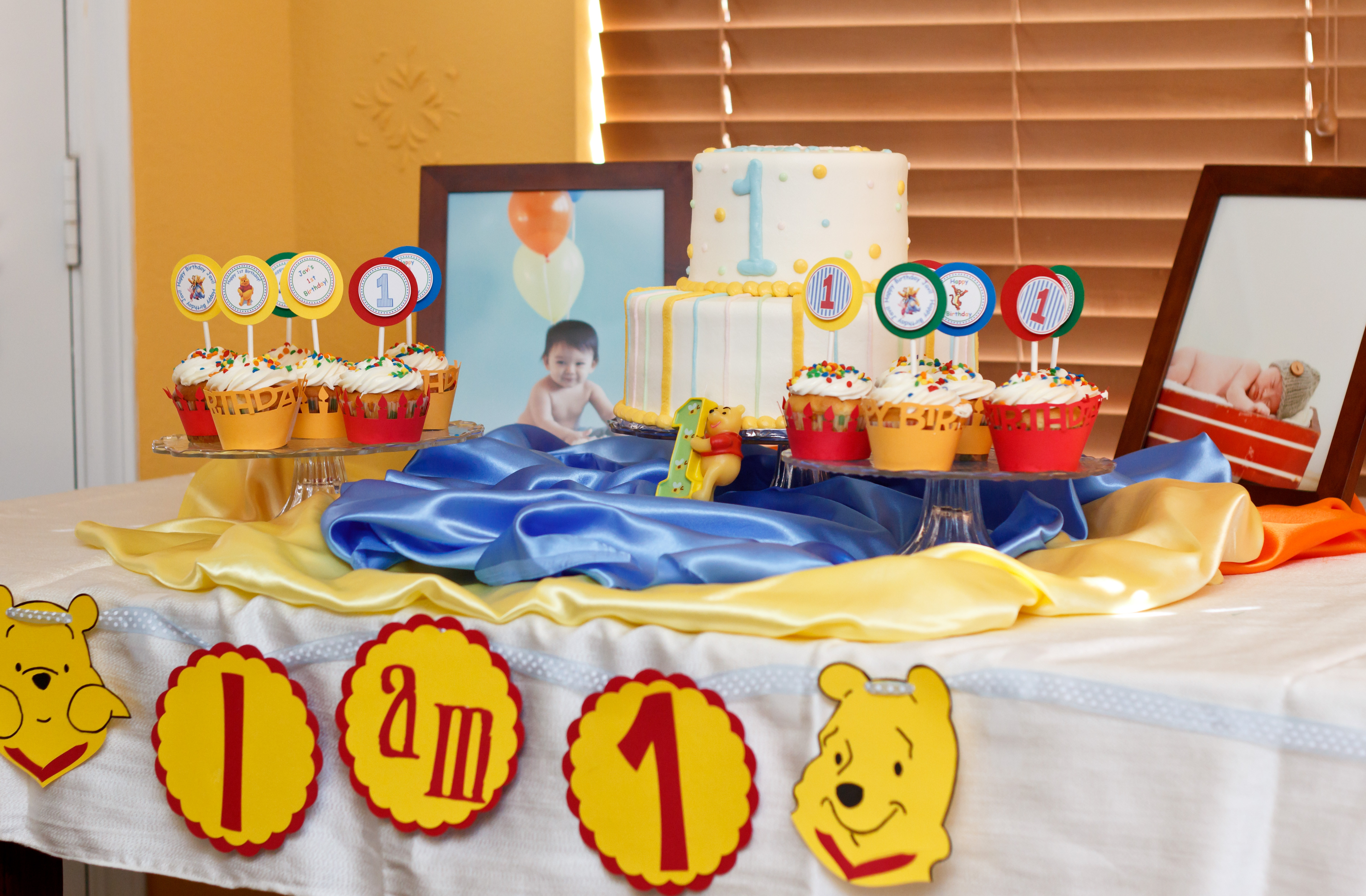 Best ideas about Winnie The Pooh Birthday Decorations . Save or Pin Winnie the Pooh My son's first birthday party Now.