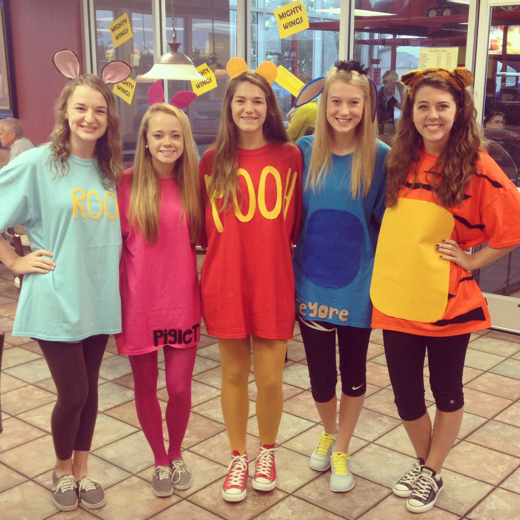 Best ideas about Winnie The Pooh Costume DIY . Save or Pin Homemade Winnie the Pooh and friends Halloween costumes Now.