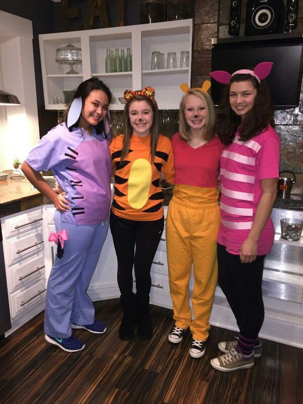 Best ideas about Winnie The Pooh Costume DIY . Save or Pin Eeyore Tigger Pooh Piglet Halloween Costumes Now.