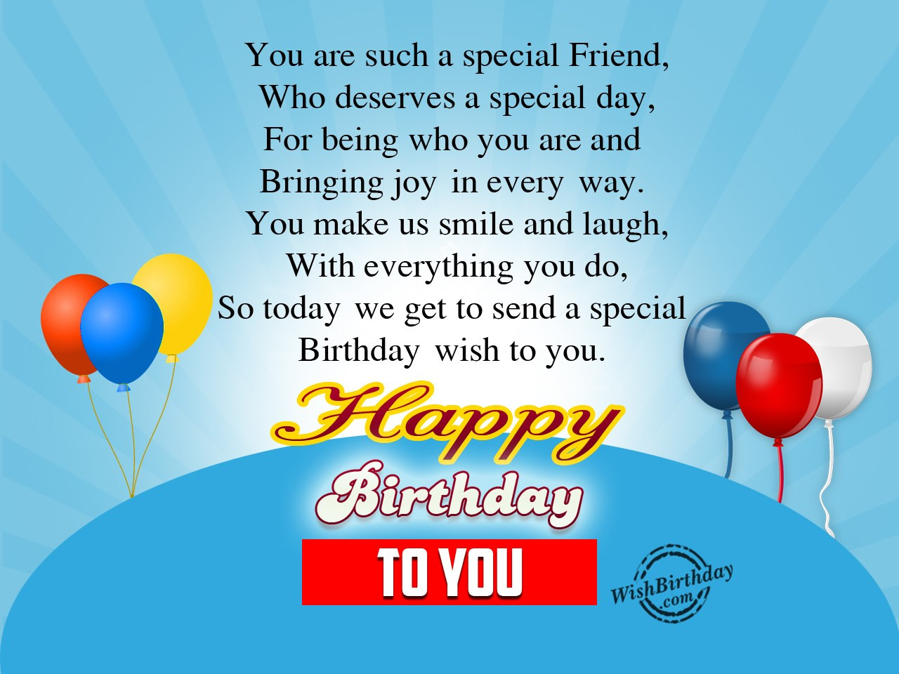 Best ideas about Wish You Happy Birthday . Save or Pin Birthday Wishes For Friend Page 3 Now.