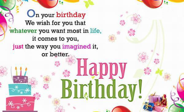 Best ideas about Wish You Happy Birthday . Save or Pin Wish you a very happy birthday words texted wishes card images Now.