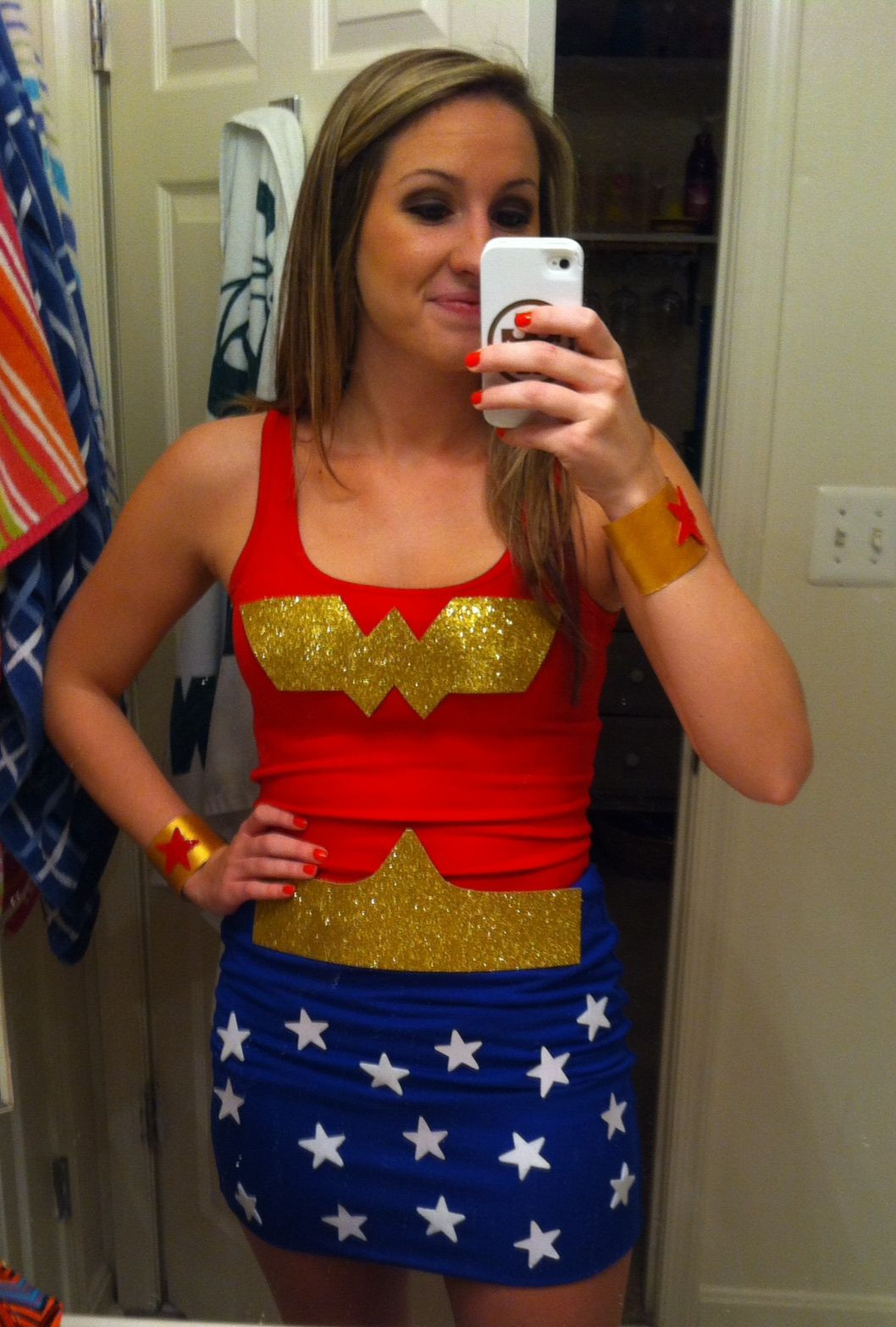 Best ideas about Woman Costume DIY . Save or Pin DIY Wonder Woman costume Halloweiner Pinterest Now.