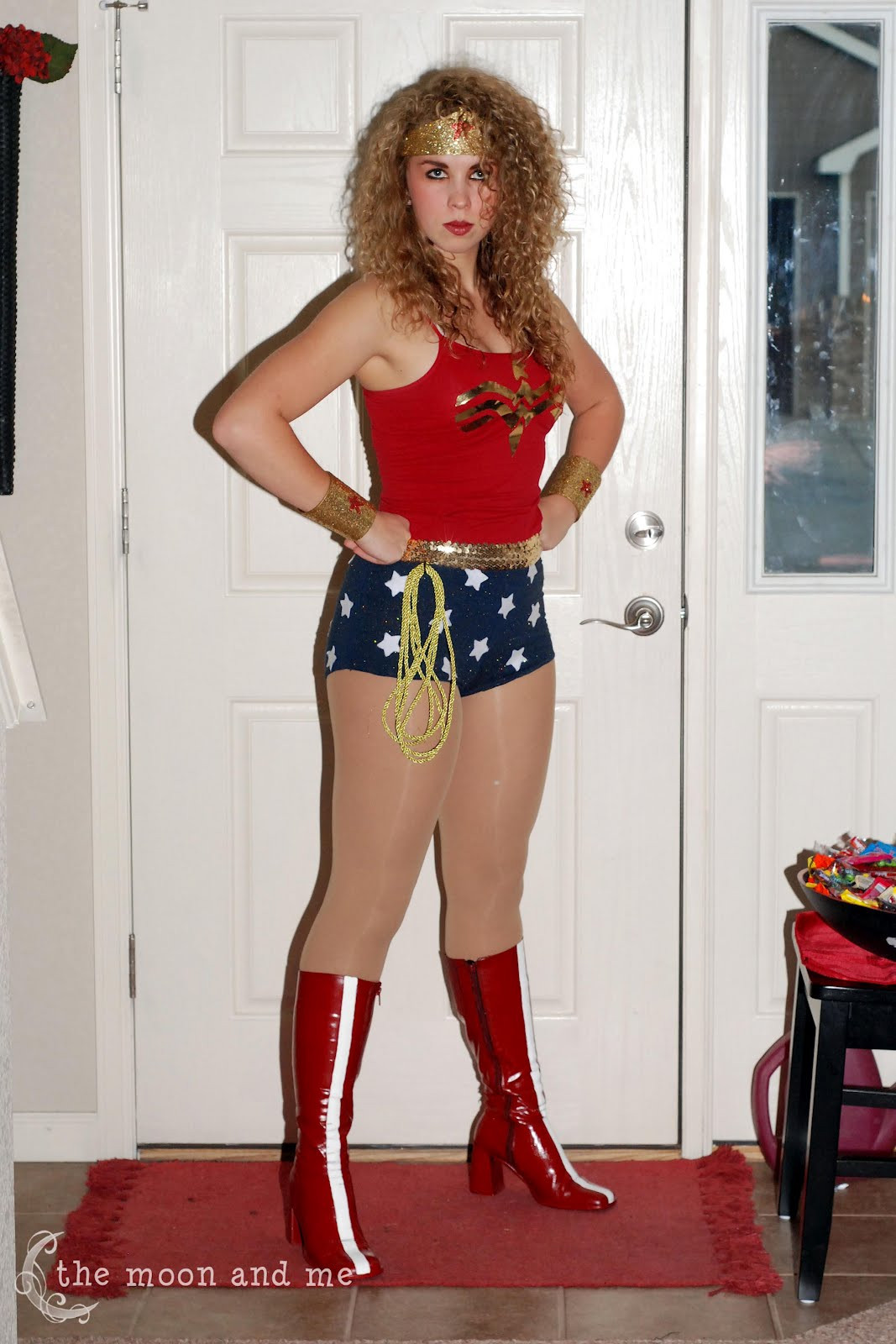 Best ideas about Woman Costume DIY . Save or Pin The Moon and Me DIY Wonder Woman Costume Now.