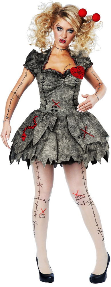Best ideas about Women DIY Costumes . Save or Pin Creepy Pins & Needles Voodoo Outfit Halloween Rag Doll Now.
