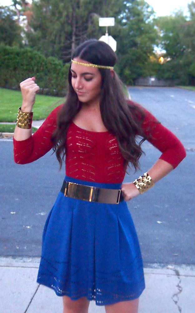 Best ideas about Women DIY Costumes . Save or Pin Wonder Woman Halloween Costume Accessories a blue skirt Now.