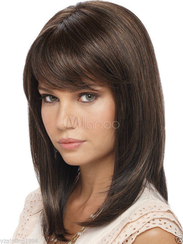 Best ideas about Women'S Shoulder Length Hairstyles . Save or Pin Light Brown Shoulder Length Straight Synthetic Quality Now.