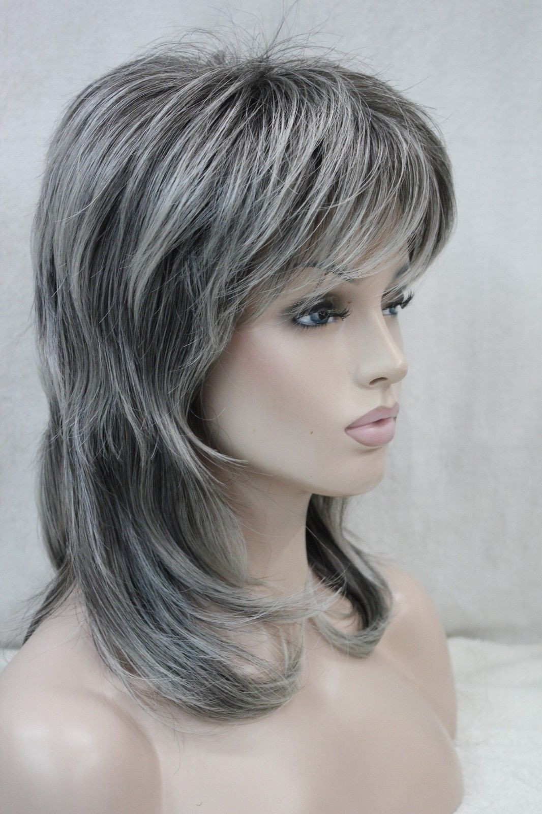 Best ideas about Women'S Shoulder Length Hairstyles . Save or Pin New women s wig medium length grey layered shoulder long Now.