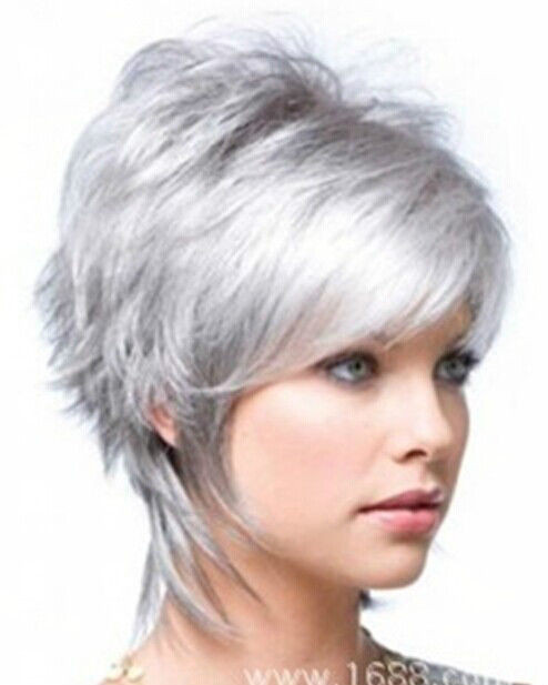 Best ideas about Women'S Undercut Hairstyles . Save or Pin Hot Style Fashion wig New Charm Women s Short Silver Gray Now.