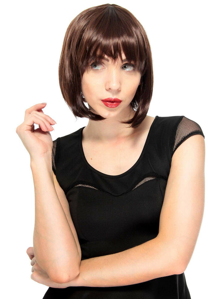 Best ideas about Women'S Undercut Hairstyles . Save or Pin Women s Vintage Style Straight Wig with Straight Bangs Now.