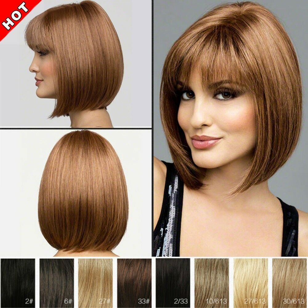 Best ideas about Women'S Undercut Hairstyles . Save or Pin f Bob Wig Women s Short Straight Full Hair Wigs Now.