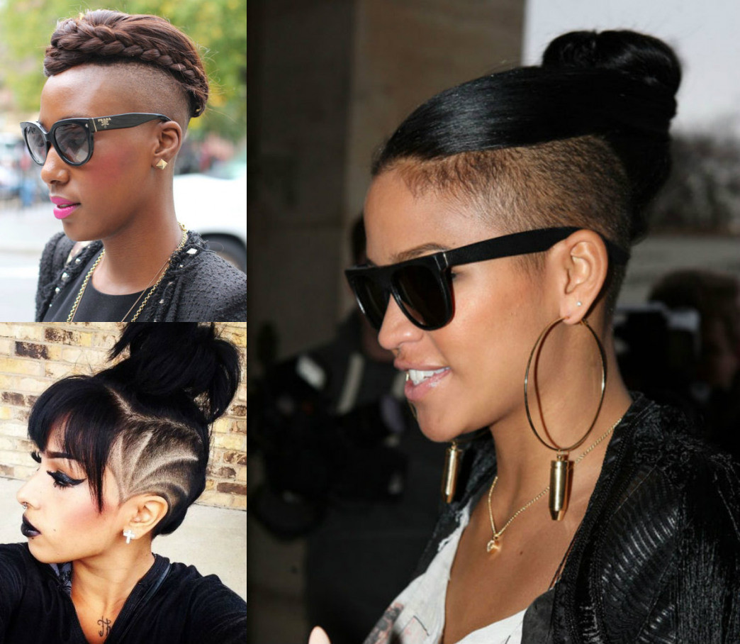 Best ideas about Women'S Undercut Hairstyles . Save or Pin Black Hairstyles With Shaved Side Now.