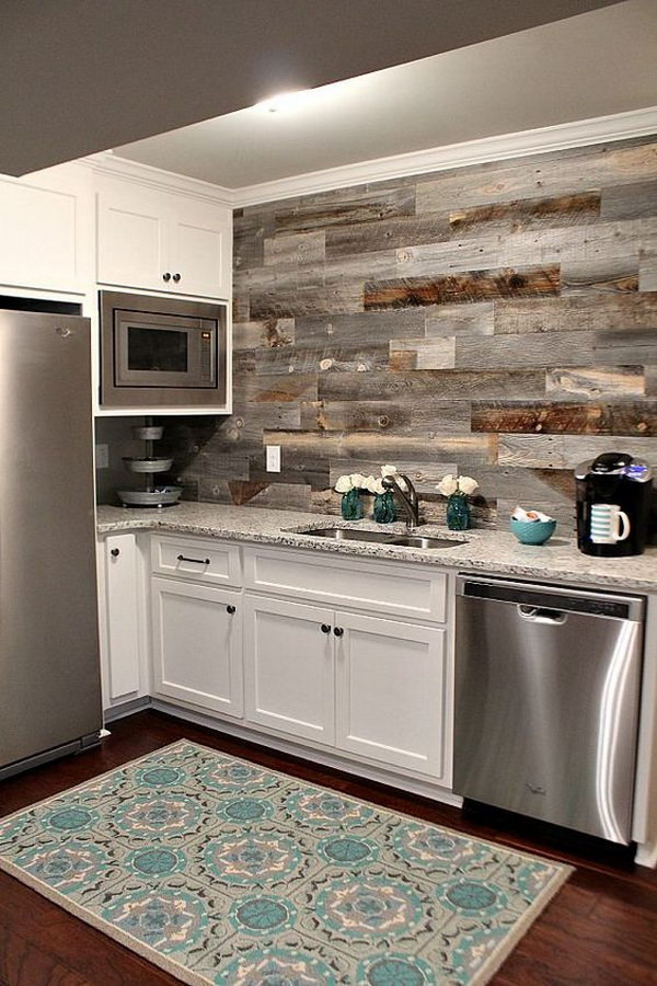 Best ideas about Wood Backsplash DIY . Save or Pin 30 Awesome Kitchen Backsplash Ideas for Your Home 2017 Now.