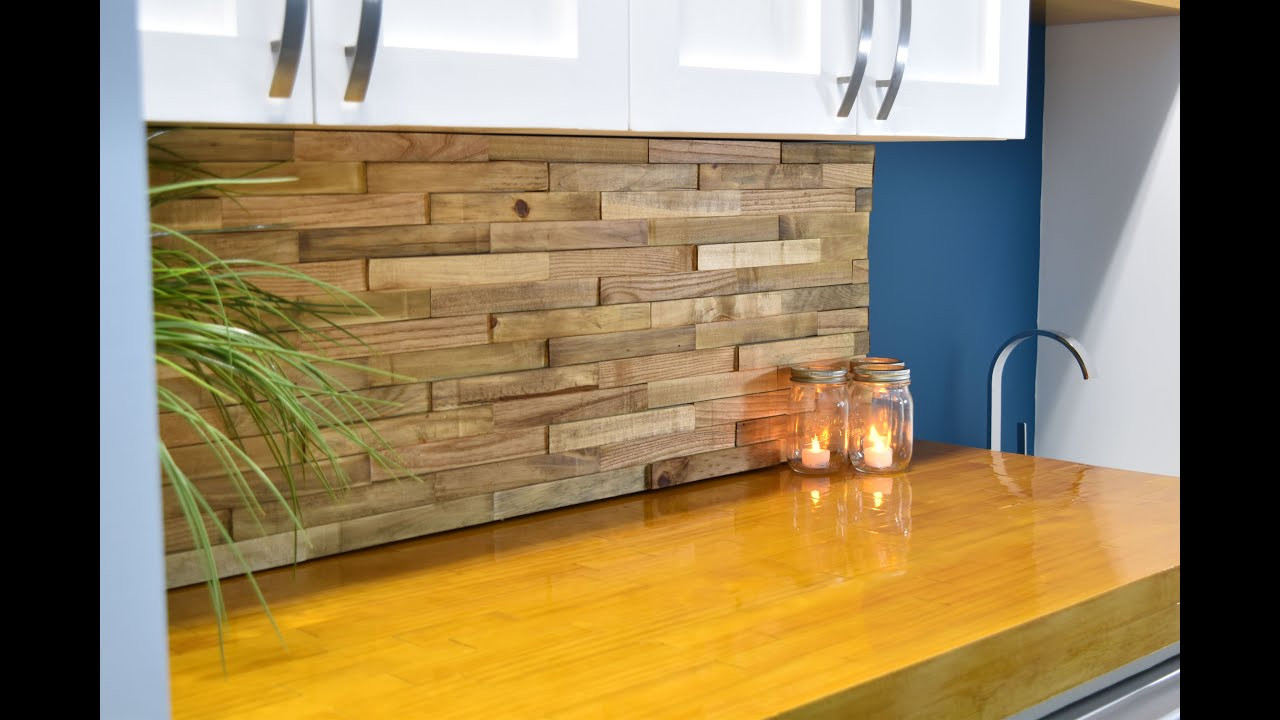 Best ideas about Wood Backsplash DIY . Save or Pin Backsplash From Reclaimed Pallets Now.